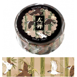 Yuzen Flying birds Washi tape World Craft