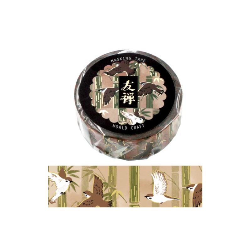 Yuzen Flying birds Washi tape World Craft