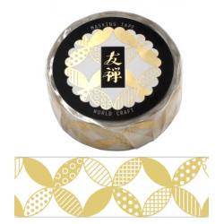 Gold Yuzen Washi tape World Craft