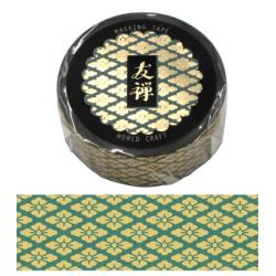 Washi tape Yuzen vert World Craft