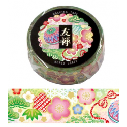 Washi tape Yuzen temari World Craft