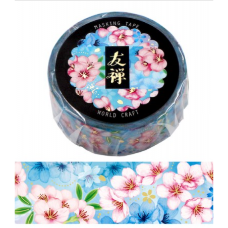 Washi tape Yuzen blue World Craft