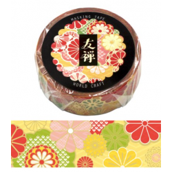 Washi tape Yuzen Kimono World Craft