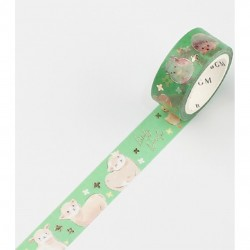 Forest Animals Zoo Washi Tape BGM japanese stationery