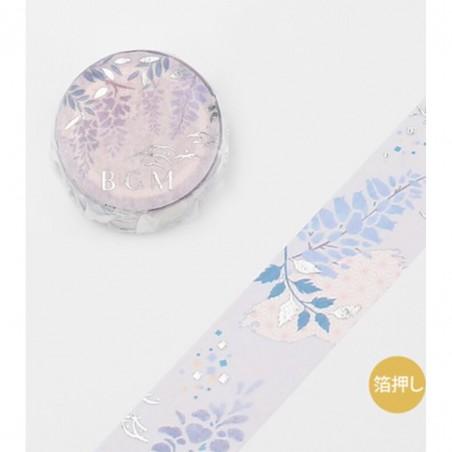 Japanese style Purple Wisteria Washi Tape BGM japanese stationery