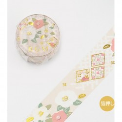 Japanese style Golden camelia Washi Tape