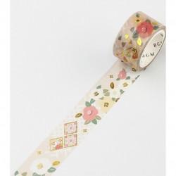 Japanese style Golden Camelia Washi Tape BGM japanese stationery