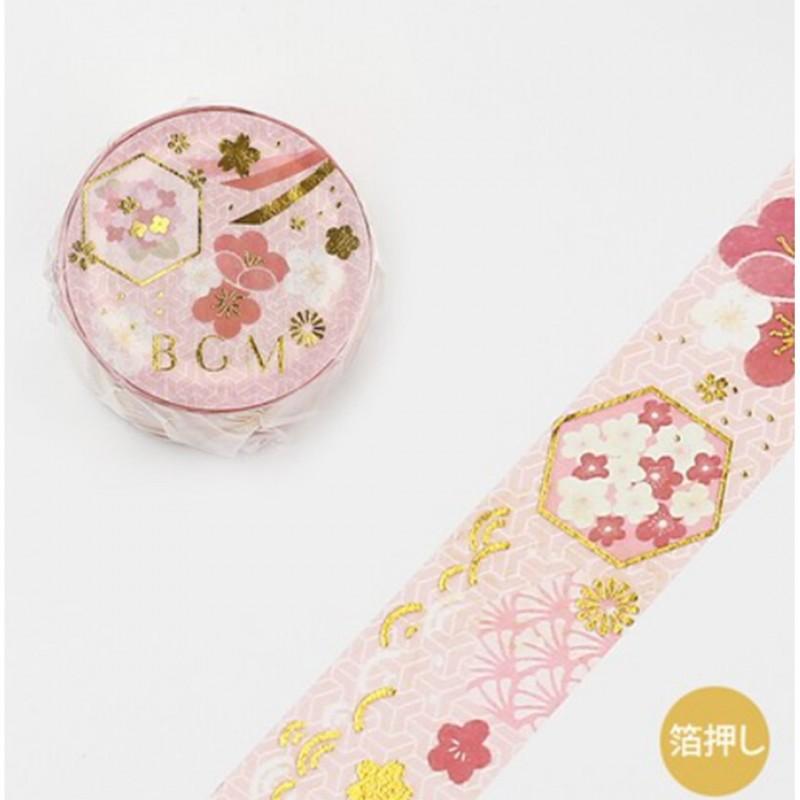 Japanese style Ume Washi Tape BGM japanese stationery