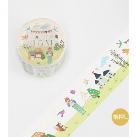 Washi tape Tale: Concert in the forest BGM japanese stationery