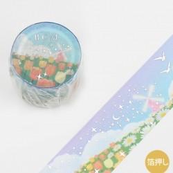 Washi tape Conte: Jardin fleuri BGM papeterie japonaise