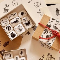 Set de tampons hinamatsuri par Pivo Hankoholly