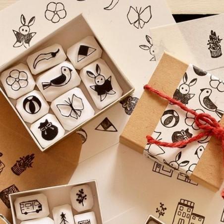 Stamp set hinamatsuri Pivo Hankoholly
