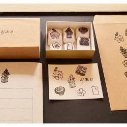 Set de tampon nouvel an par Pivo Hankoholly tampons japonais fait-main
