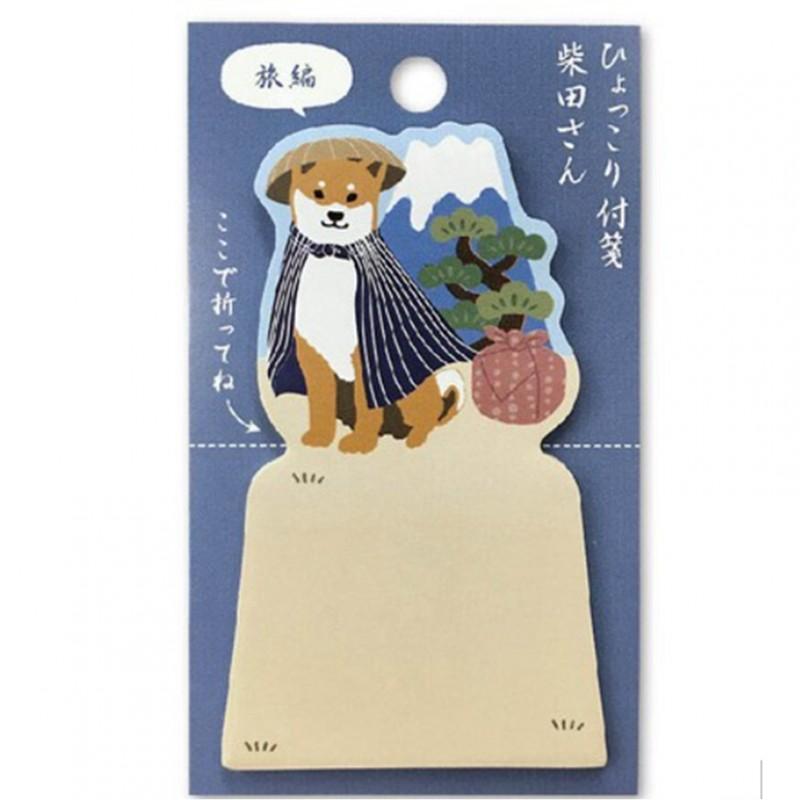 Sticky note shibata Hyokkori japanese stationery