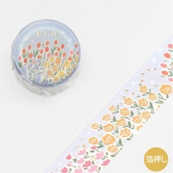 Washi tape garden flower...