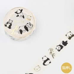 Washi tape Panda bear japanese stationery BGM
