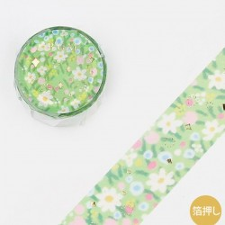 Washi tape lawn flowers japanese stationery BGM