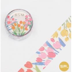 Washi tape fleurs de printemps papeterie Japon BGM
