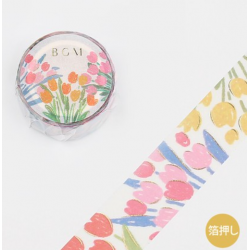 Washi tape spring flowers japanese stationery BGM