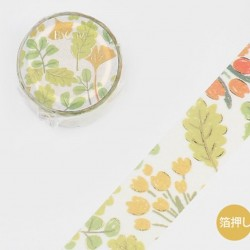 Washi tape green leaves papeterie Japon