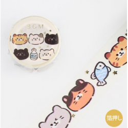 Washi tape Chats Japon BGM 2021