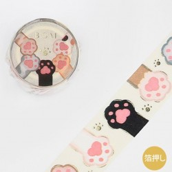 Washi tape Pattes de chats Japon BGM 2021