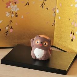 Tanuki de Katotouki fabriqué au Japon à Seto à la main. Artisanat Japon