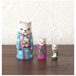 poupée manekineko en bois artisanale de Kimura and co