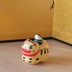 Tigre en porcelaine artisanat Japon Kyoto Kimura and co