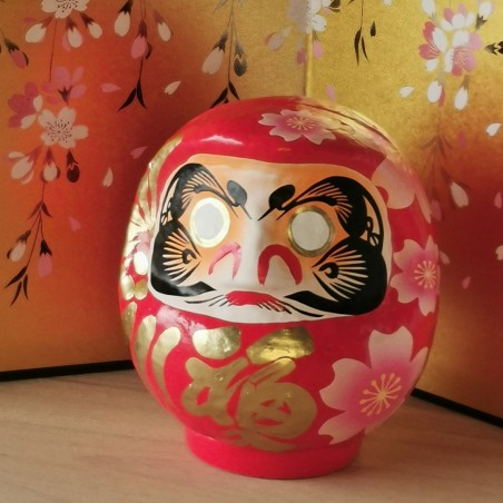 Miyabi Daruma Sakura rouge Imai Daruma Naya artisanat japonais de Gunma