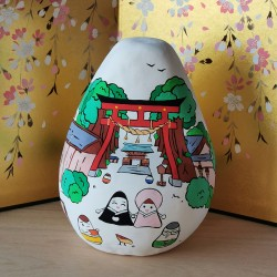 Big Okiagari Koboshi Melie et Malice collaboration handmade in Japan
