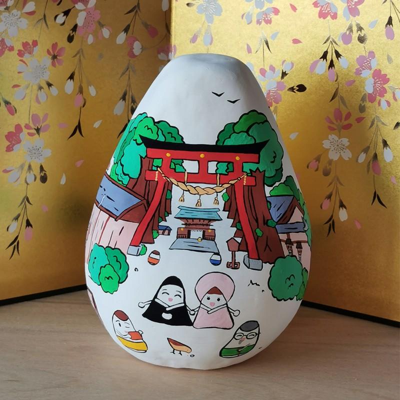 Big Okiagari Koboshi Melie et Malice collaboration handmade in Japan