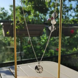 Long Necklace white and...