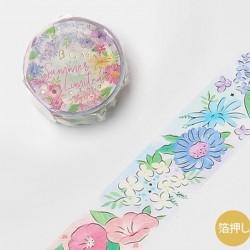 Washi tape Summer flowers japanese stationery 2021 summer limited