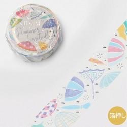 Washi tape Umbrella summer limited 2021 papeterie japonaise