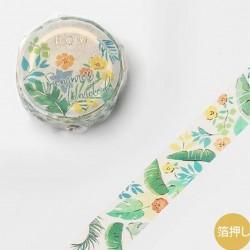 Washi tape Rainforest japanese stationery BGM 2021