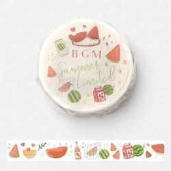 Washi tape Watermelon japanese stationery BGM 2021