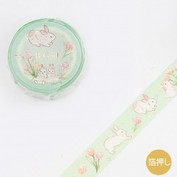 Washi tape Garden Rabbit papeterie Japon BGM 2021