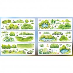 Stickers Scenery series Green japanese stationery