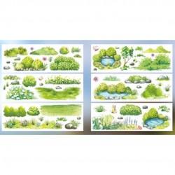 Stickers série de scènes Green papeterie Japon