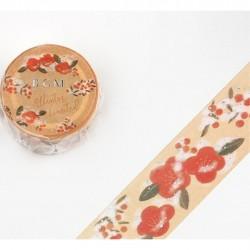 Washi tape Camellia Tsubaki...