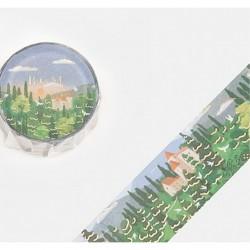 Washi tape Forest landscape Little World collection BGM