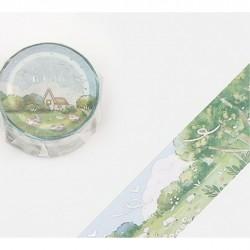 Washi tape Ranch bleu ciel collection Little world BGM