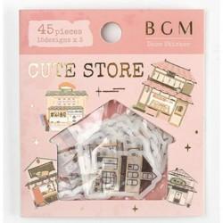 Autocollants Cute vintage store BGM