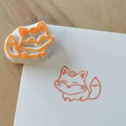 Kitsune, ink stamp, Achahanko
