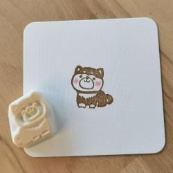 Shiba, tampon encreur, Achahanko fait main japon artisanat