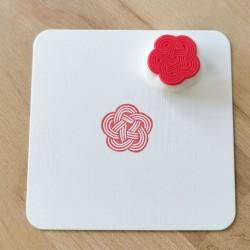 Ume-musubi, tampon encreur, Achahanko fait main artisanat Japon