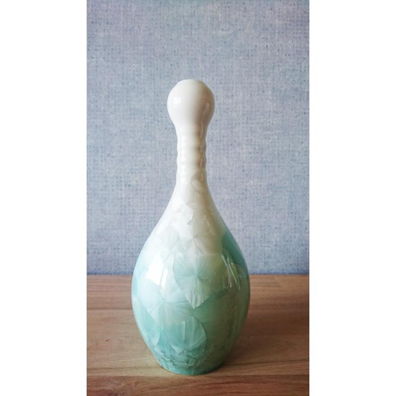 Vase cristallisée lagon