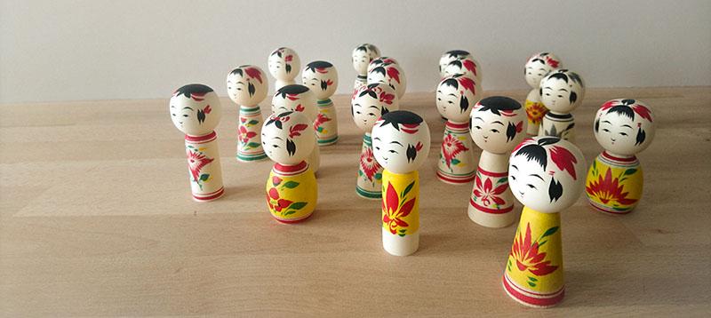 Mini kokeshi Sakurai Kokeshi poupée art collection japon Naruko Tohoku