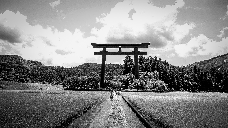 Décoration japonaise tori passage